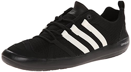 adidas Outdoor Men's Climacool Boat Lace Water Shoe, Black/Chalk White/Silver Metallic, 10 M US