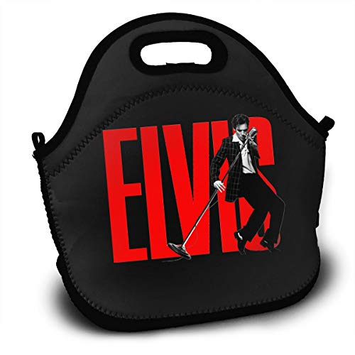 Lunch Bag, Elvis Presley Reusable Lunch Box Food Container Organizer Handbags Tote with Zipper for Men Women Kids ()
