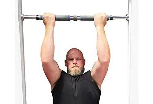 Garren Fitness Maximiza Pull Up Bar - Locking Doorway Pullup Bar/Chin up Bar with 3 Sets of Screw-in Door-Mounts (2 Heavy-Duty and 1 Medium-Duty Sets), 26 to 39 Inches Adjustable Width
