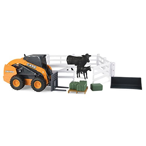 ERTL 1/16 BIG FARM Case SV280 Skid Steer with Cattle and Fencing and Accessories