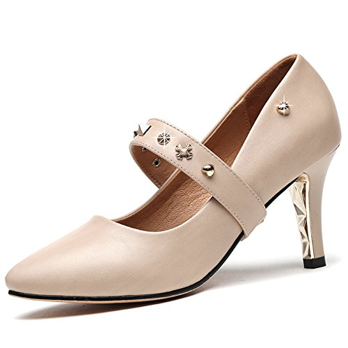 PUMPS Frau Bai Schuhe,High Heel,ein Wort Schnalle mit Spitzen Schuhen?Freizeitschuhe-A Fußlänge=24.3CM(9.6Inch)