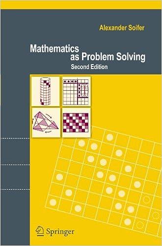 Mathematics as Problem Solving: Alexander Soifer: 9780387746463 ...