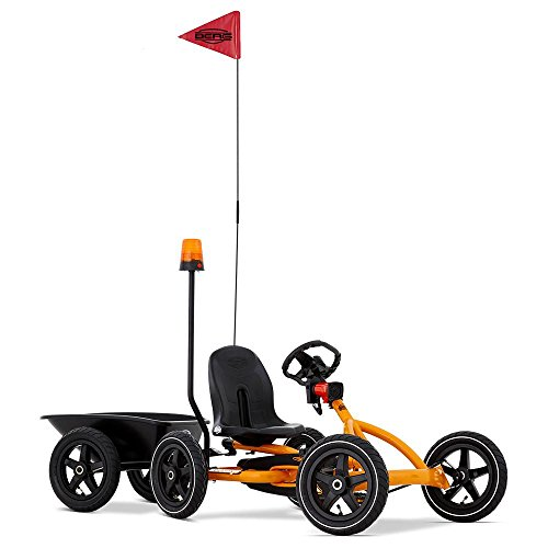 BERG Pedal Cars For Kids Buddy Orange Trailer and Safety Kit, Help's Children Play and Ride Safe