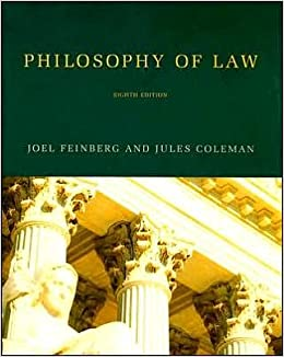 Book Philosophy of Law (text only) 8th (Eighth) edition by J. Feinberg,J. Coleman