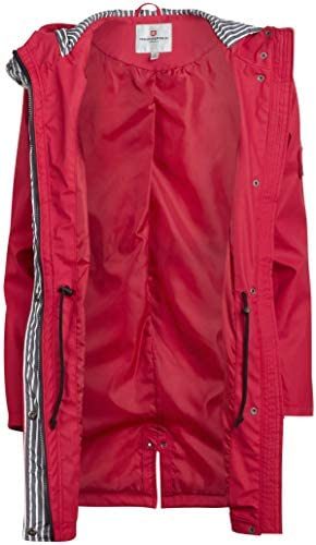 URBAN REPUBLIC WOMEN'S LIGHTWEIGHT HOODED RAINCOAT JACKET WITH CINCHED WAIST