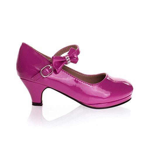 Forever Link Girls Dana 62k Dress Shoes Fuchsia 9]()