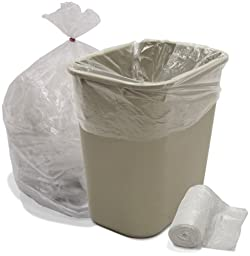 Interplas CL-HDN-2424 8-10 Gallon High Density Trash Bags, HDPE, 6 Micron, 24\