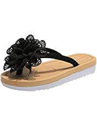 Fashion Women Spring and Summer Flip Flops Slipper Flower Flat with Beach Slippers Slides Shoes