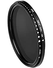 TISHITA ND2 tot ND400 variabel instelbaar ND-filter Waterdicht meervoudig gecoat lensfilter voor camera's onder sterk licht - 40,5 mm