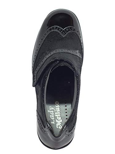 Con Chiusura Strappo Sneakers Nera A Nero Melluso Vernice In Donna wXqWYfR