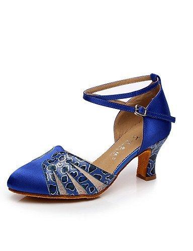 personnalisables avec femmes de talon moderne en danse satin pour ShangYi Chaussures personnalisé WR1tzpwqnq