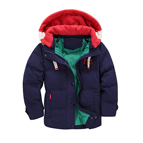 Evelin LEE Baby Boys Puffer Hooded Outwear Winter Warm Jacke