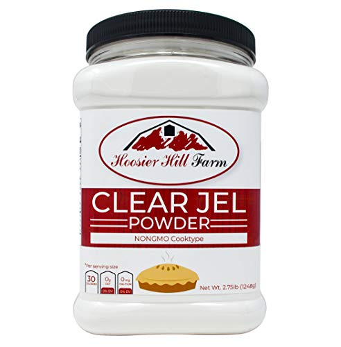 Hoosier Hill Farm Clear Jel Thickener (cook type) NON-GMO large bulk 2 3/4 lb.Jar (Cherry Pie Recipe Using Canned Cherry Pie Filling)