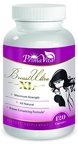 Enhancement Natural (Breast UltraXL- Gain Up to 3+ cups, Powerful All Natural Breast Enlargement & Enhancement Pills, 120 Capsules)