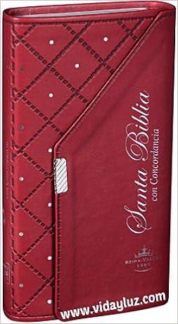 Biblia Estilo Chequera Imi Piel Rojo Con Concordancia ...