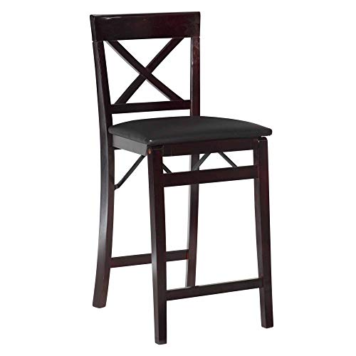 Cheap Linon Triena X Back Folding Counter Stool