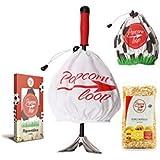 Popcornloop Spezial-Edition Set !!Limitiert, nur wenig auf Vorrat!! bestehend aus 1x Popcornloop Rührstab mit Original-Haube, 1x Fußballhaube,1x Premium Popcorn Mais 500g, 6x Fußballtüten, insgesamt 9-teilig - Selbst Frisch Zubereiten - Ein Gesunder Snack - Individuell Würzen - Einfach Lecker - Popcorn wie im Kino!