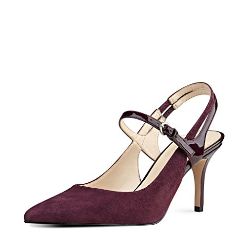Leather Mary Jane Slingback Heel - 6