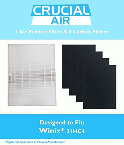 Winix 115115 Filter + 4 Carbon Filters PlasmaWave Size 21 5300 5500 6300