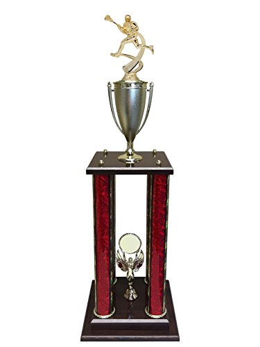 Express Medals 4 Column 30'' Male Lacrosse Trophy - Pinnacle by Express Medals