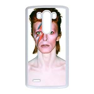 DAVID BOWIE 01 funda LG funda caso G3 del teléfono celular de cubierta blanca, funda del teléfono celular de plástico