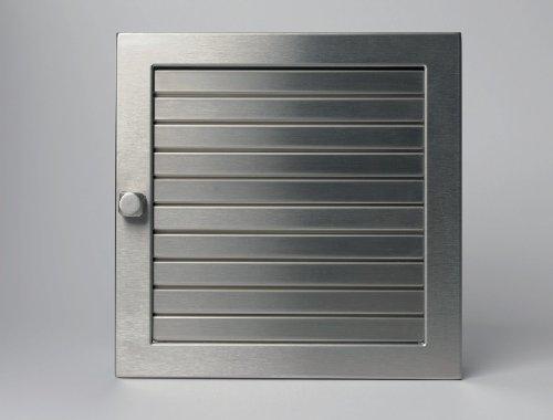 CB Warmluftgitter 35x23 Edelstahl matt