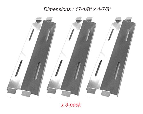 SH3281 Stainless Heat Shield Replacement for Bakers & Chefs ST1017-012939, ST1017-01, Master Forge GR1008-015039, Grill Chef BIG-8116 and Sams ST1017-012939 (3-pack)