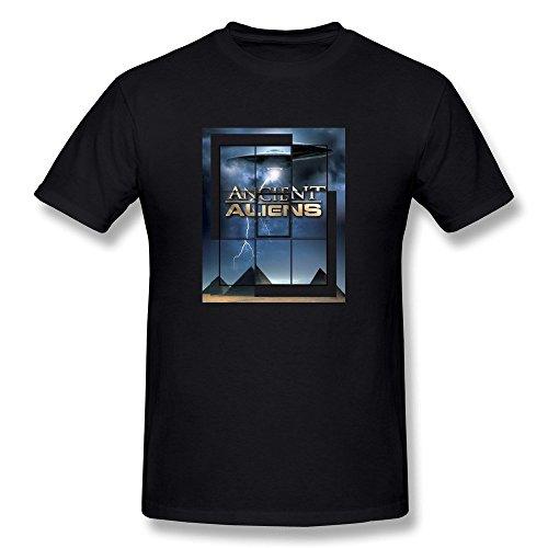 Ptshirt.com-19258-Losnger Men\'s Ancient Aliens Round Collar T Shirt-B015GQUPTI-T Shirt Design