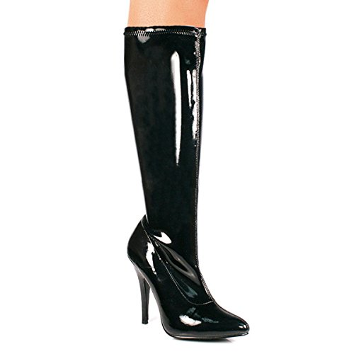 Pleaser Seduce-2000 - Sexy High Heels Stretch Knie Stiefel 36-48 Schwarz