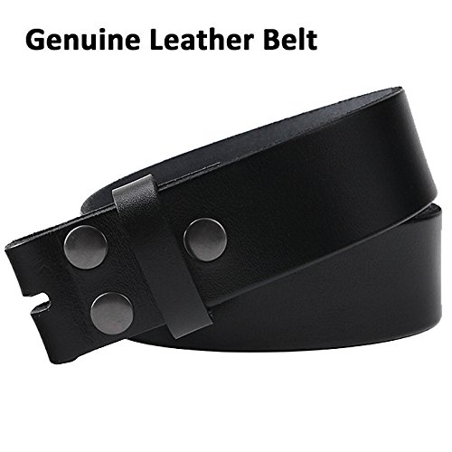 NPET Men's Classic Full-Grain Belt Genuine Leather Belt without Belt Buckle 1.5
