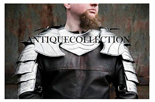 Medieval Knight Pauldrons and Gorget Fantasy Warrior Costume -