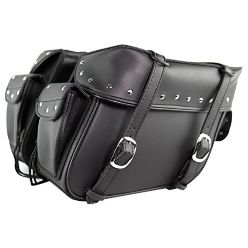 Waterproof Motorcycle Saddlebags with Pockets