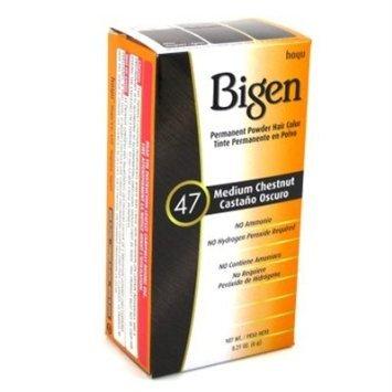 Bigen Powder Hair Color #47 Medium Chestnut 0.21oz (6 Pack)