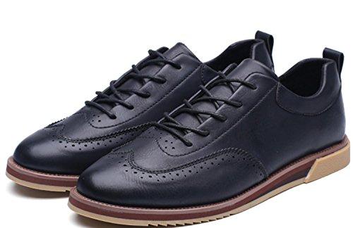 Uomini di CSDM Nuovi sport di svago i pattini di affari Nuovi scarpe casuali intagliate della molla di modo , black , 39