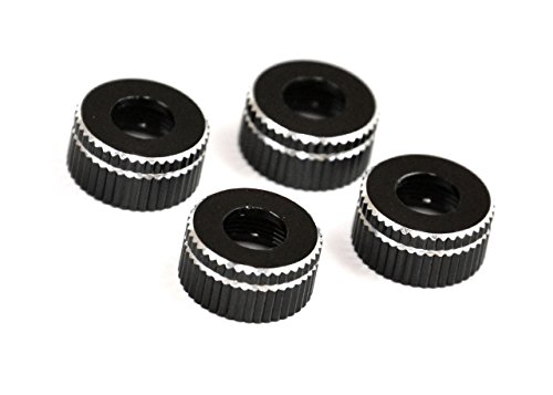 Exotek RC 1550Black Associated Lower Shock Caps, Black