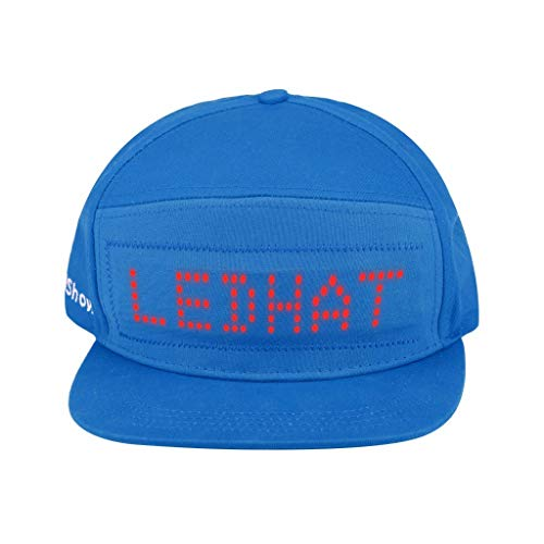 LED Light Up Hat, Colorful LED Fashion Cap LED Cool Hat with Screen Light Waterproof Smartphone Controlled (Blue) ()