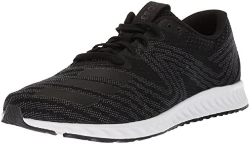 adidas Men s Aerobounce Pr m Running Shoe, Core Black Metallic Silver White, 12 M US