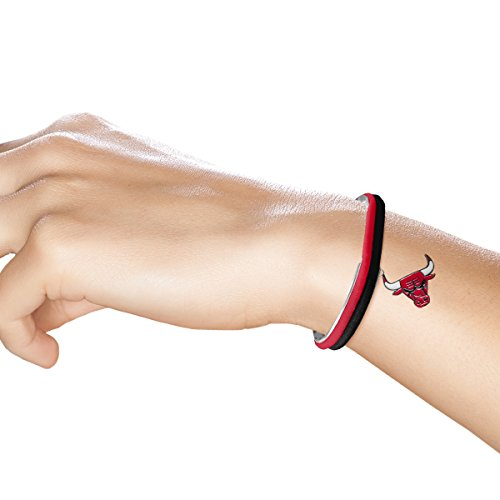 Littlearth NBA Chicago Bulls Hair Tie Bangle Bracelet (Chicago Bulls Bracelet Nba)