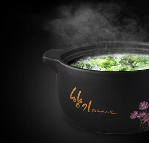 GJJ High Temperature Heat-.Resistant Ceramic Soup Pot Casserole, Natural Health Casserole, Pot Ceramic Pot,Black,3 Liters by GJJ (Image #6)