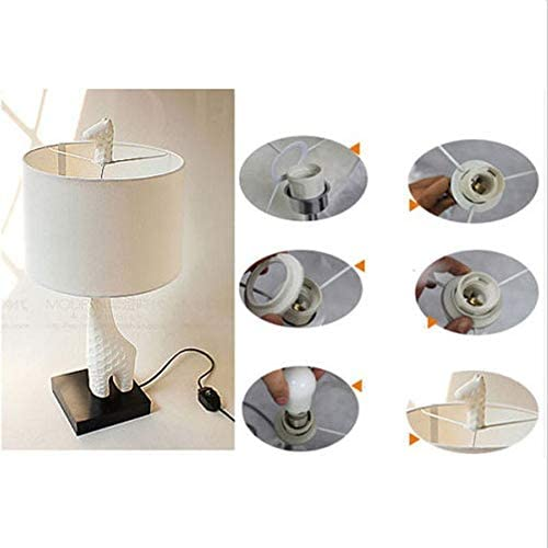 Gpzj Contemporary Children Desk Lamp,Indoor Giraffe Table Lamp Light Modern Light for Bedroom Living Room use 1 E27 White