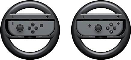 Handle Steering Wheel for Nintendo Switch by Y&R Direct,Black, L+R, 2 Pack