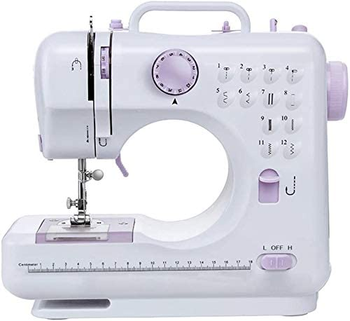 Multifunction Portable Desktop Electric Household Sewing Machine Sewing Tool Mini Sewing Machine 505A 12 Built-in Stitches