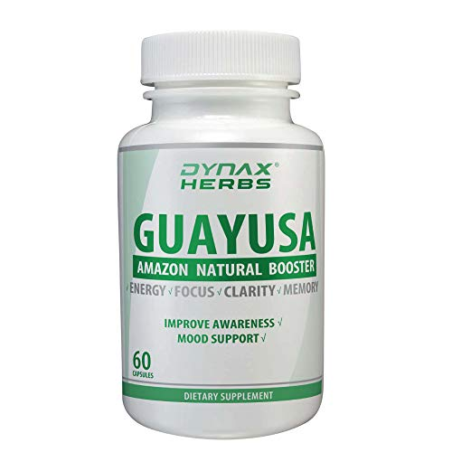 Dynax Guayusa Nootropic Leaves Extract Natural Amazon Brain Booster Organic Pure Supplement for Focus, Energy, Memory & Clarity 60 Capsules -  Dynax Advanced Research, 38196
