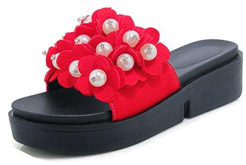 Perles Chic Fleurs Femme Talon Aisun Compens Stq70n6