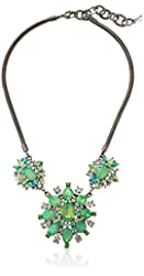 """Purple by M. Haskell """"Garden Dream"""" Faceted Bead Statement Necklace, 16''+3'' Extender"""