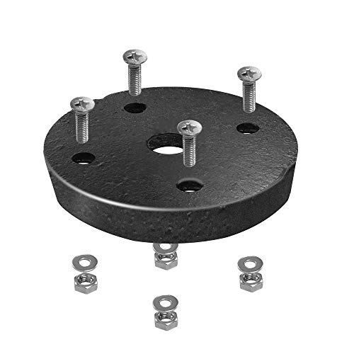 COVOART Heavy Weighted Pond Lights Base with Mounting Screws, 1 Pack