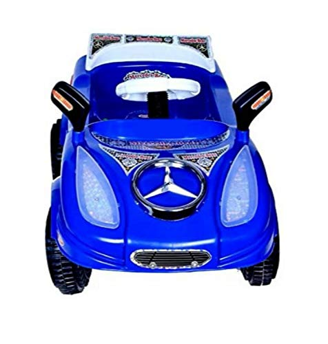 Shree Ganesh Online Baby's Pedal Mercedez Car with LED Musical and Sterring Handle Along with Safety Learn to Ride Trike (Colour May Vary)