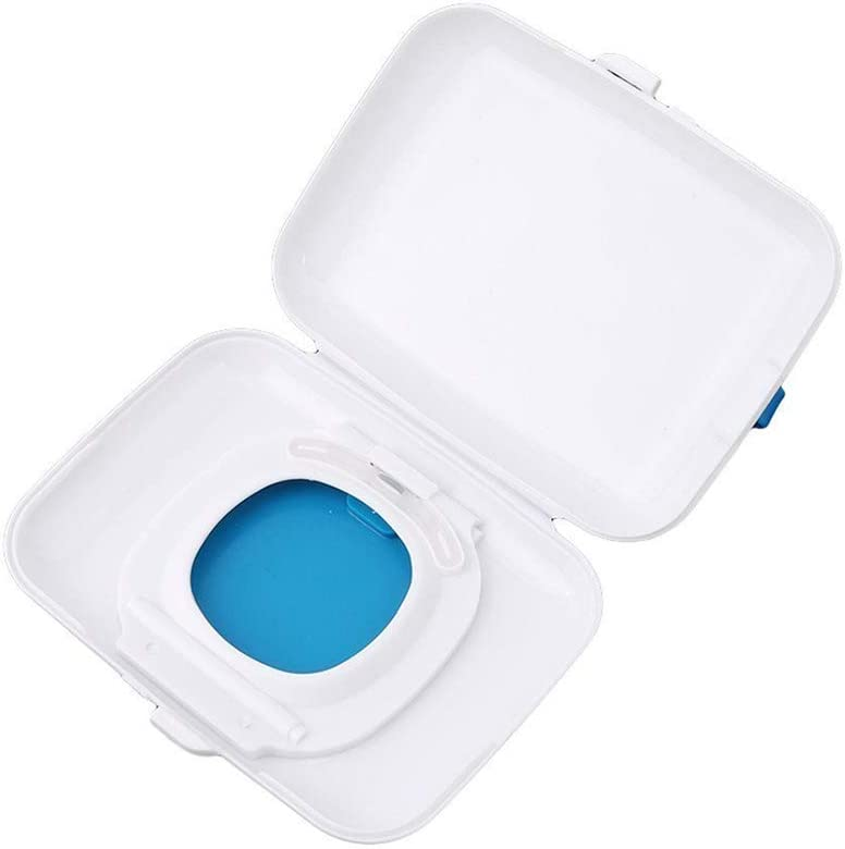Ogquaton Baby Wipes Dispenser Box Travel Portable Wet Tissue Case Blue Cost-Effective and Durable