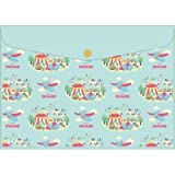 Japan Walt Disney Official Dumbo - Fantasy Momennts Cute Light Blue Clear Travel Pouch Case File Organizer Paper Folder Character Prints Cover Plastic Magazine Pen Pencil Smartphone Holder Document