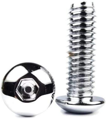 Chrome Plated Button Head Socket Cap Screws #8-32 x 1//2 Qty 25